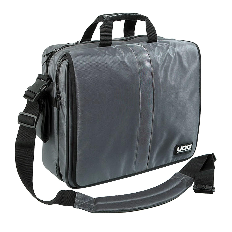 Udg Ultimate Courierbag Deluxe 17 Quot Steel Grey Orange